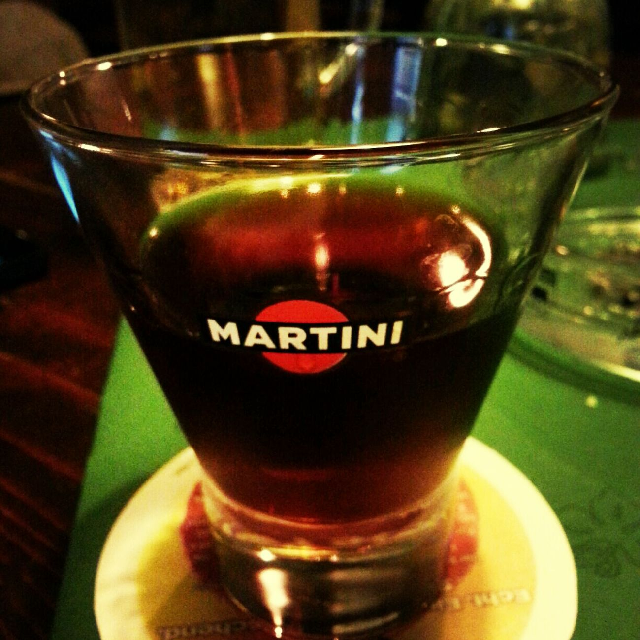 Red Martini Friends Hanging Out Drinks Bar
