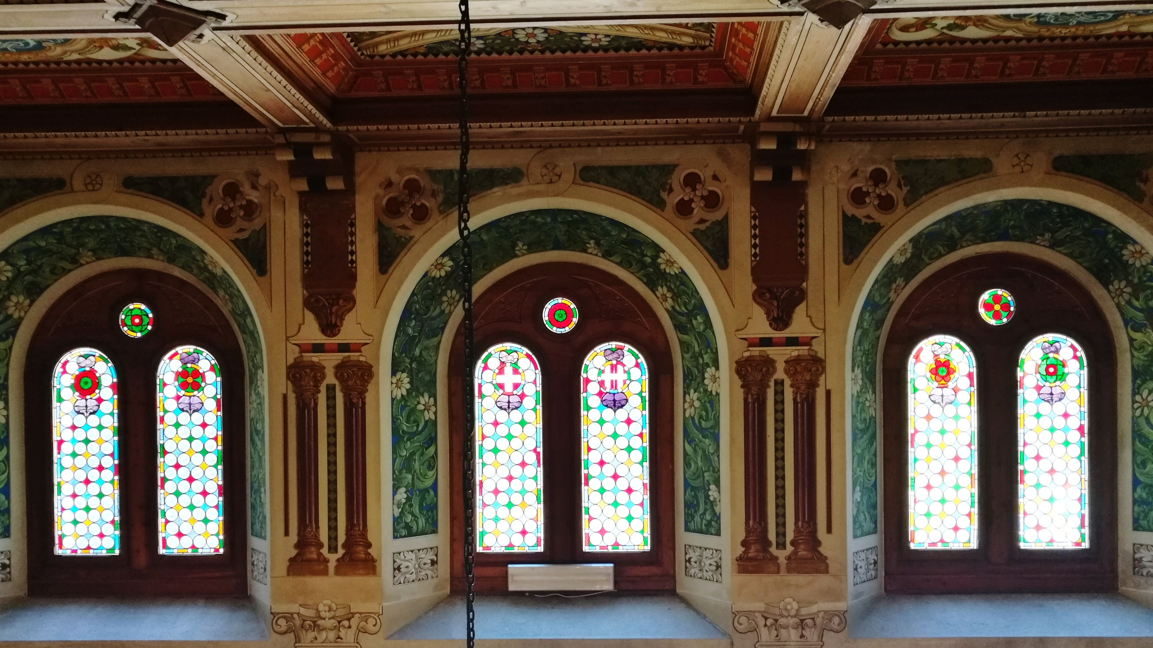arch, architecture, history, no people, architectural column, built structure, day, travel destinations, multi colored, indoors, cultures, fresco