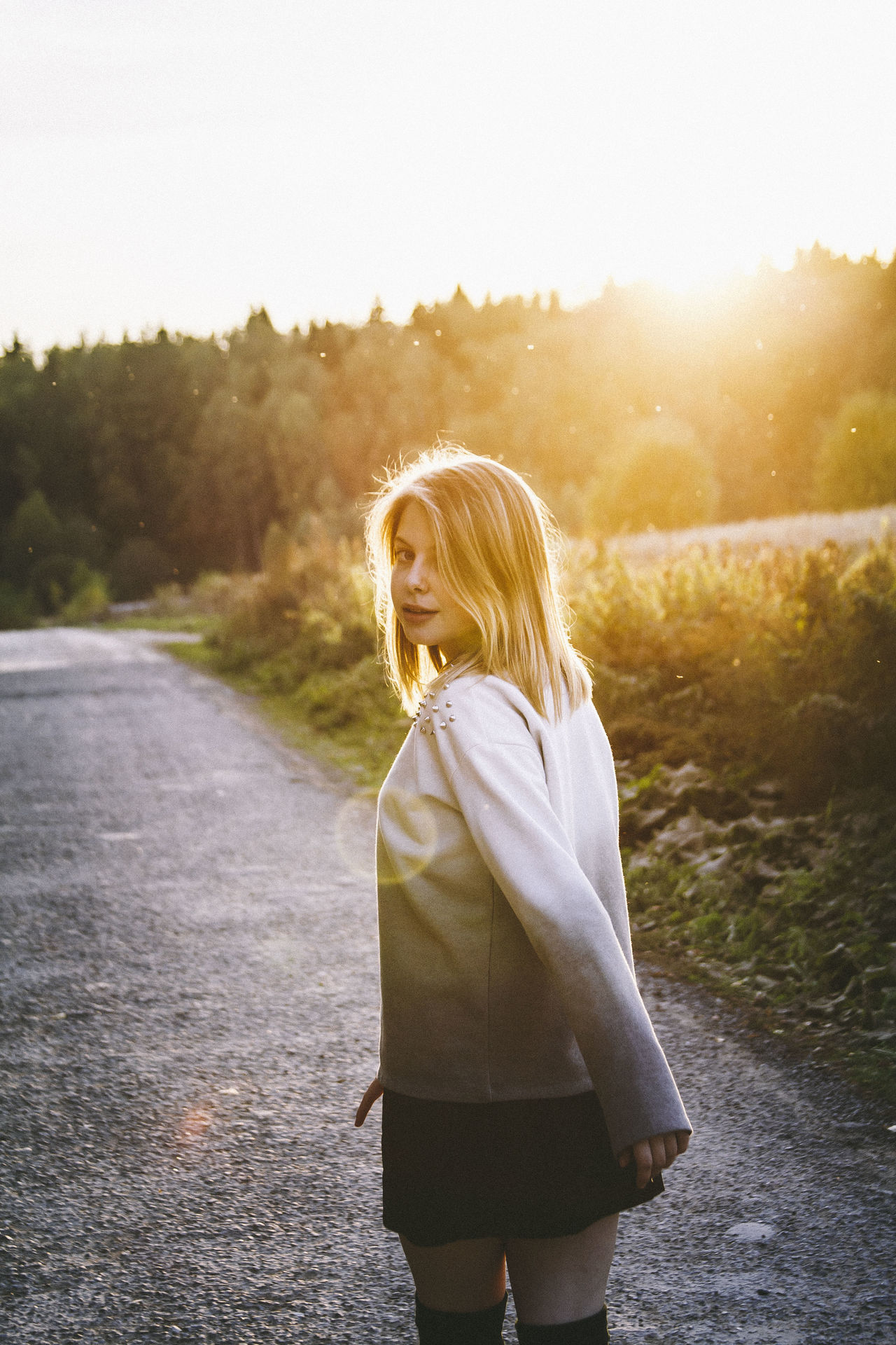 Beautiful stock photos of sonnenschein, rear view, real people, one person, lifestyles