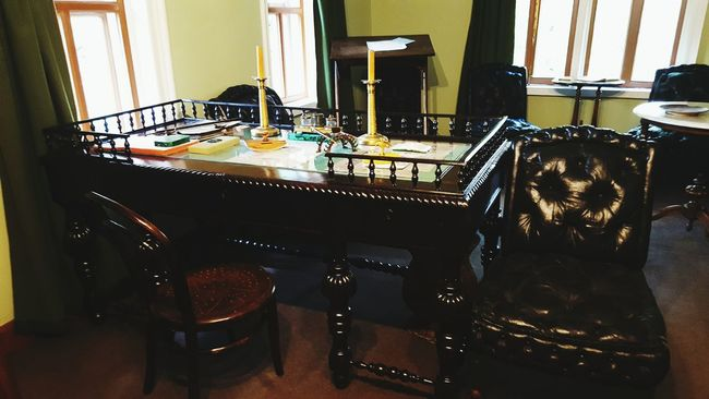 Indoors  Archival No People Horizontal Day Modern Home Interior Inspirations Taking Photos Holiday Moscow, Russia Table Tolstoy House