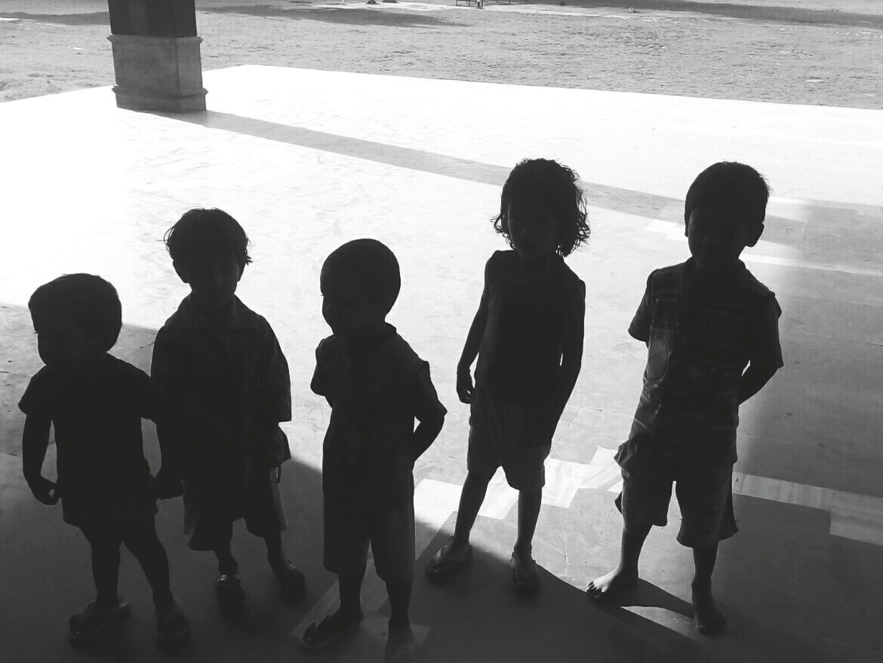 Enjoy The New Normal No Posing Blackandwhitephoto Outdoors Kids In Black Luminosity The Photograph A Question Without An Answer Of The Sapling