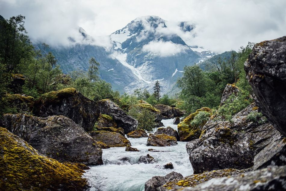 Beautiful stock photos of norway, Beauty In Nature, Cloud - Sky, Day, Flowing Water