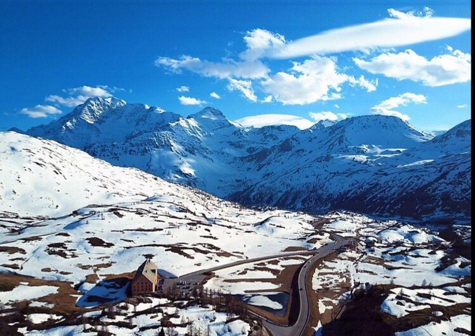 Snow Mountain Landscape Sky Cloud - Sky Blue Dronephotography Nature Mavic Pro