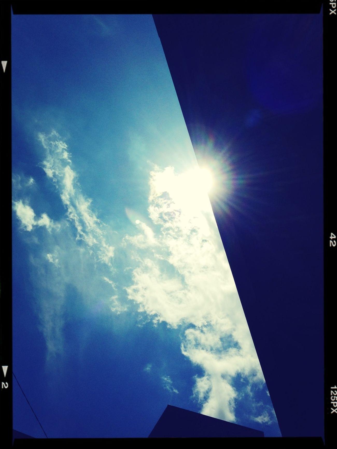太陽と雲と。