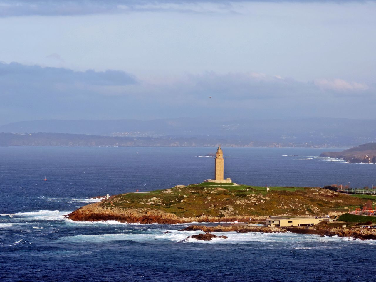 Lighthouse Tower Building Exterior Travel Destinations Sea Coastline No People Sunset Nature Outdoors Landscape Sky Day TorreDeHercules City Acoruña