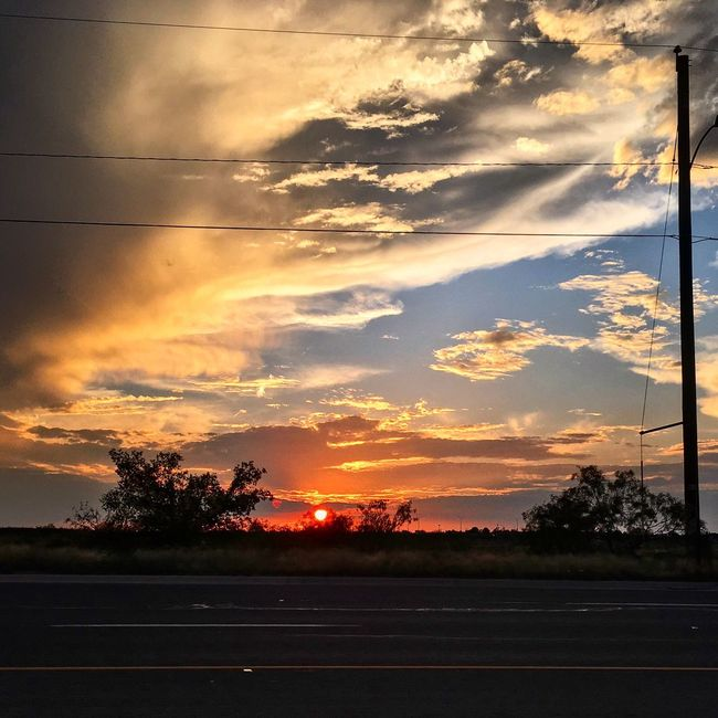 Sunset Road Tree Street Tranquil Scene Cloud Sky Beauty In Nature Nature Outdoors Sun West Texas Sunset Texas Sunset Midland, TX West Texas Texas West Texas Skies Texas Skies Texas Landscape Cloud - Sky Tranquility Cloudy Scenics Thunderstorms Storms