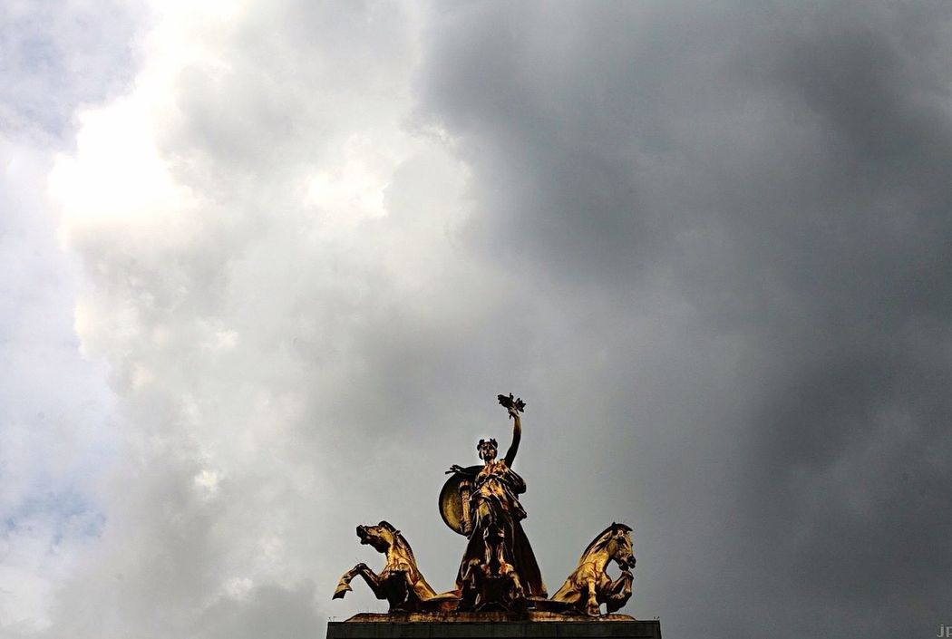 Guardians of Central Park/ Columbus Circle Statues In The Park Gold Epic Courage Valiant Heroic