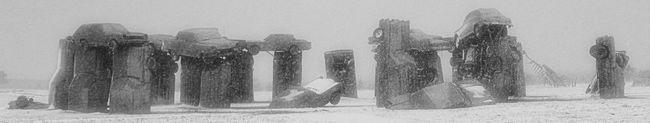 Art Carhenge Cold Creativity Human Representation Monument Sculpture Winter