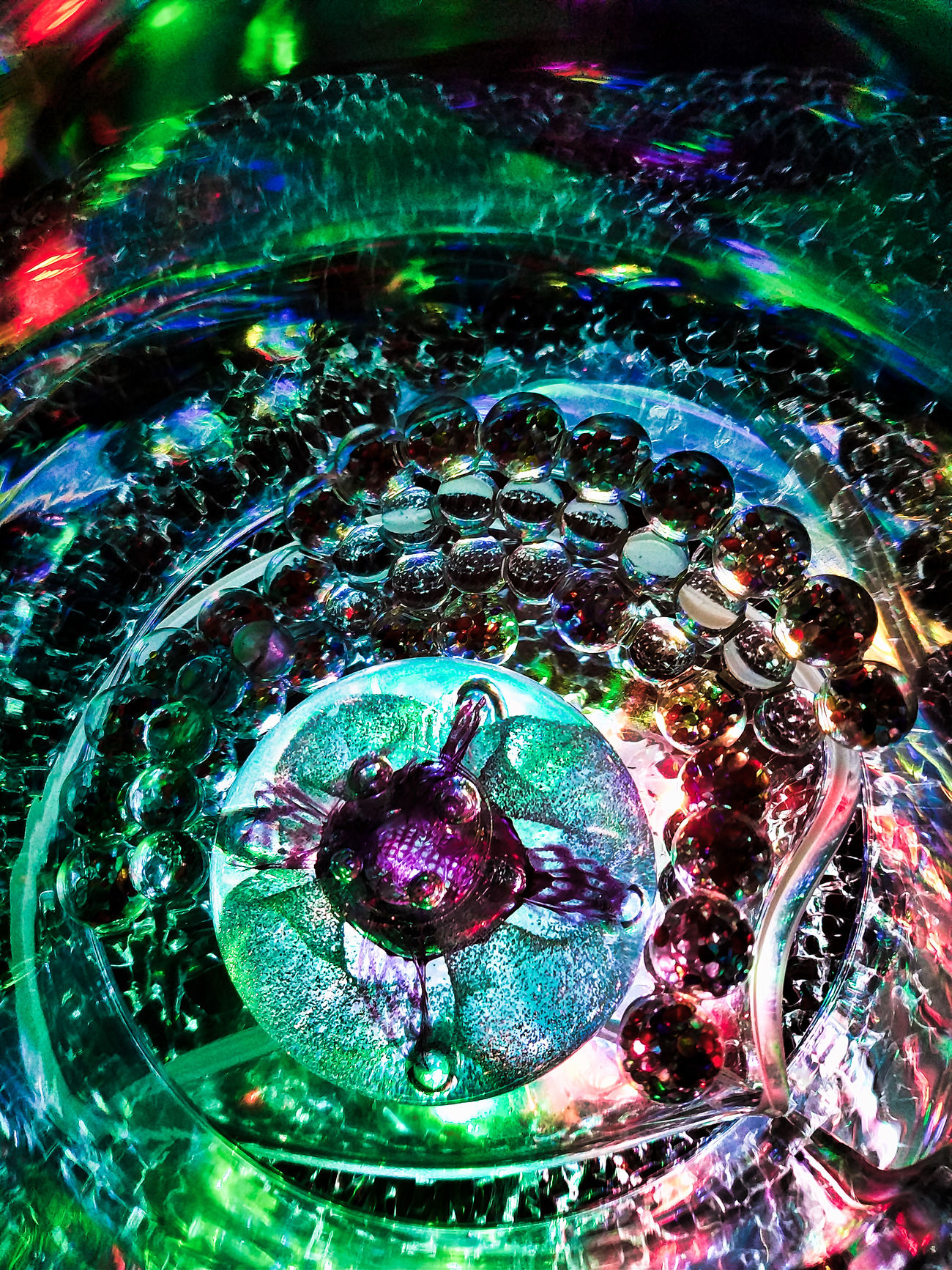 Close-up Day Indoors  Multi Colored Mysterious Mysterious Place No People Planet - Space Science Science Fiction Space And Astronomy Star - Space Technology Water