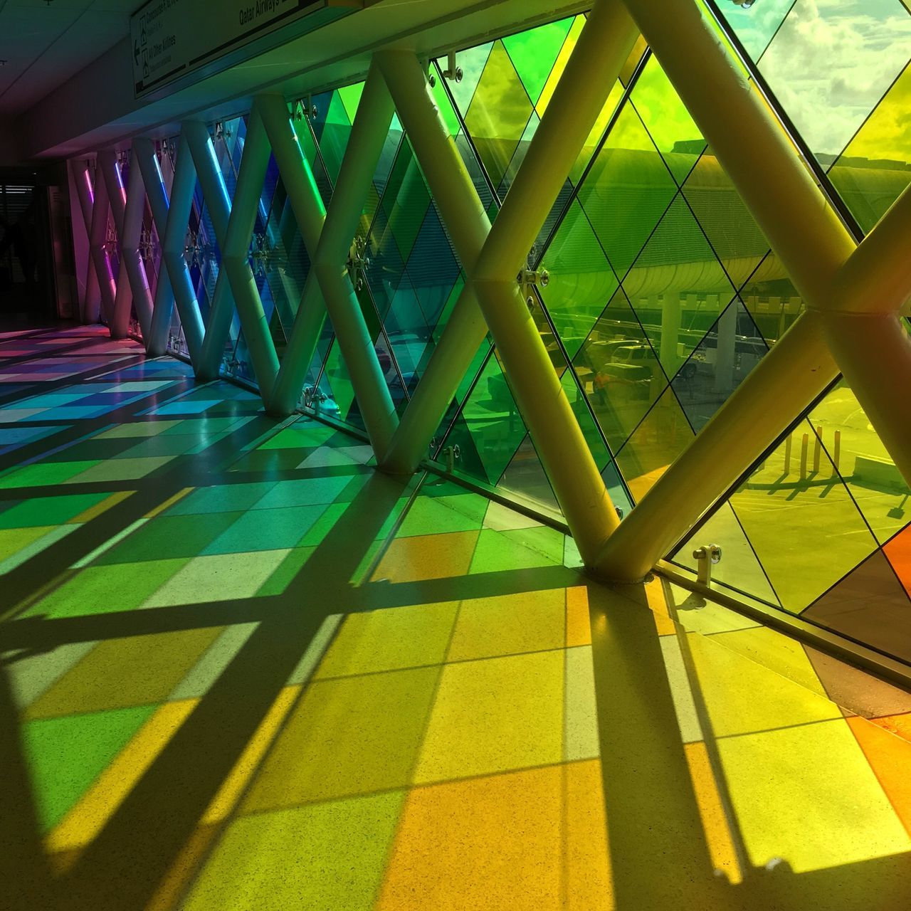 Miami Florida Airport Colors Colorful Colorsplash Yellow Green Blue Pink Red Orange Violet Light Colorfullights