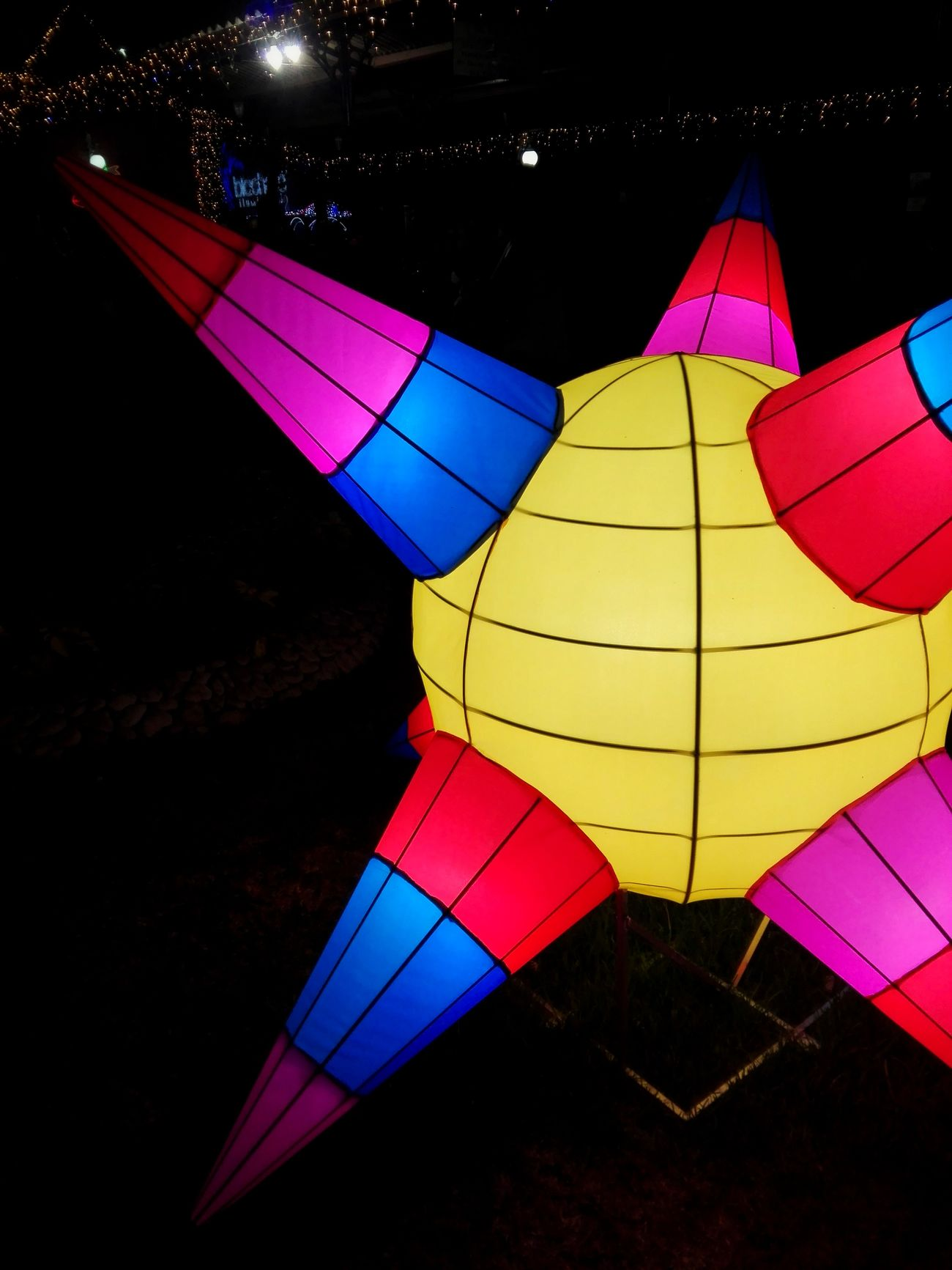 Multi Colored No People Outdoors Piñata Ligths Night Christmas Lamp Unique Mexico Colors On Dark