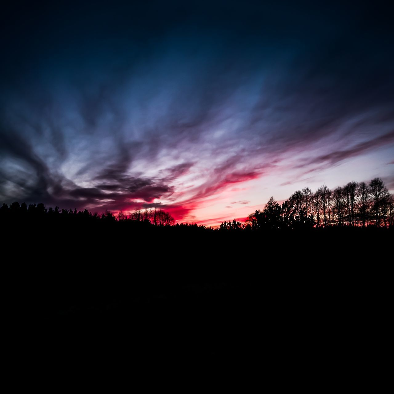 Silhouette Red Nature Sunset Landscape Cloud - Sky Scenics No People Natural Disaster Sky Beauty In Nature Backgrounds Outdoors Tree Day First Eyeem Photo EyeEm Best Shots - Landscape EyeEm Best Shots