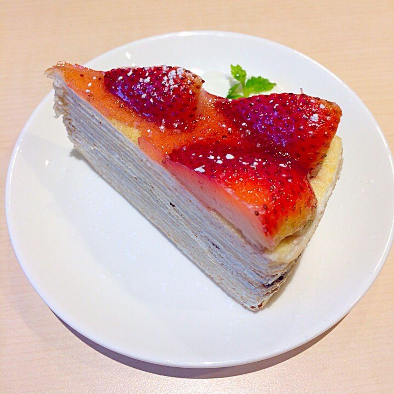 Cake Crape Cake dessert Enjoying A Meal