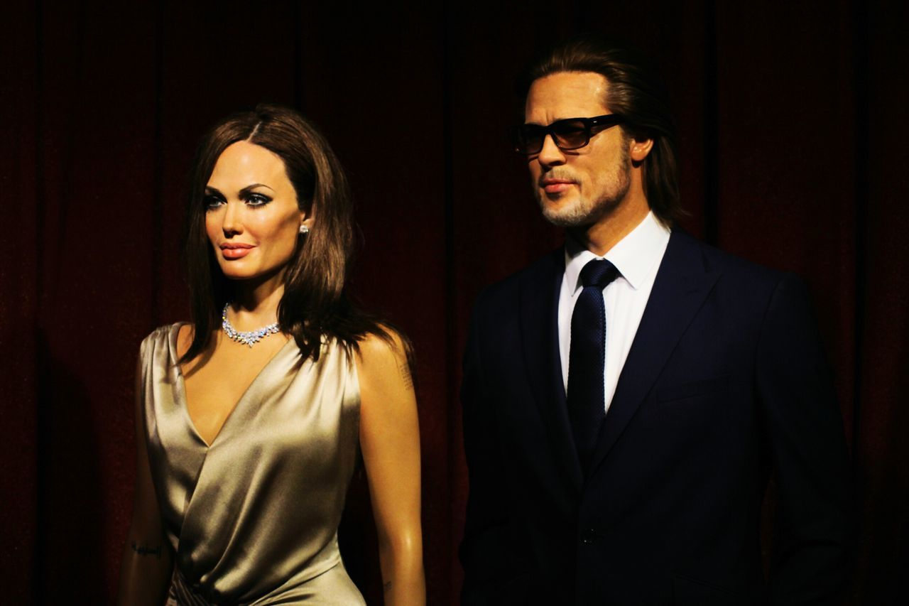 Wax Dolls Angelinajolie Brad Pitt Wax Figure Humans Fake People Still Life Learn & Shoot: Single Light Source Learn And Shoot Popular Photos Celebrities Married Couple Famous People London