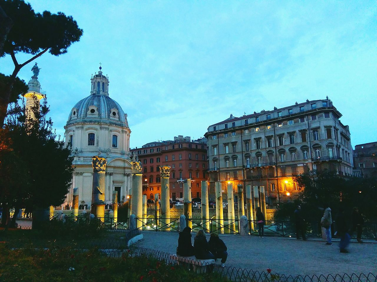 Rome, Fori Imperiali Rome Rome Italy Rome, Italy Architecture Illuminated Night Dusk City Twilight Travel Destinations Building Exterior Tree Sky Town Square Travel History Sunset Outdoors No People Cityscape Christmas Tree Picoftheday Adapted To The City Coffe Time Protection