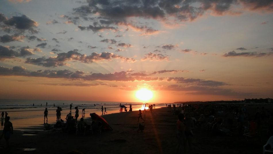 Beach Beauty In Nature Buenos Aires, Argentina  Cloud - Sky Day Horizon Over Water Nature Necochea. Argentina No People Outdoors Scenics Sea Sky Sun Sunlight Sunset Water