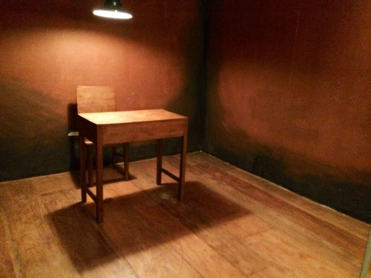 interrogation Table Chair Light Hanging Light Interogation Room Philippines