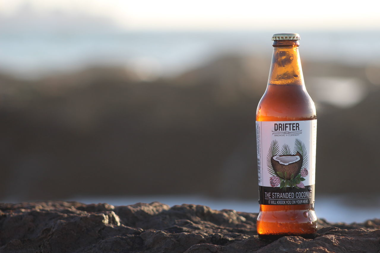 Beach Beer Beerporn Bottle Cape Town Close-up Container Craft Beer Craftbeer Drifter Drifterbrewing Focus On Foreground Glass - Material No People Outdoors Refreshment Selective Focus Natural Light