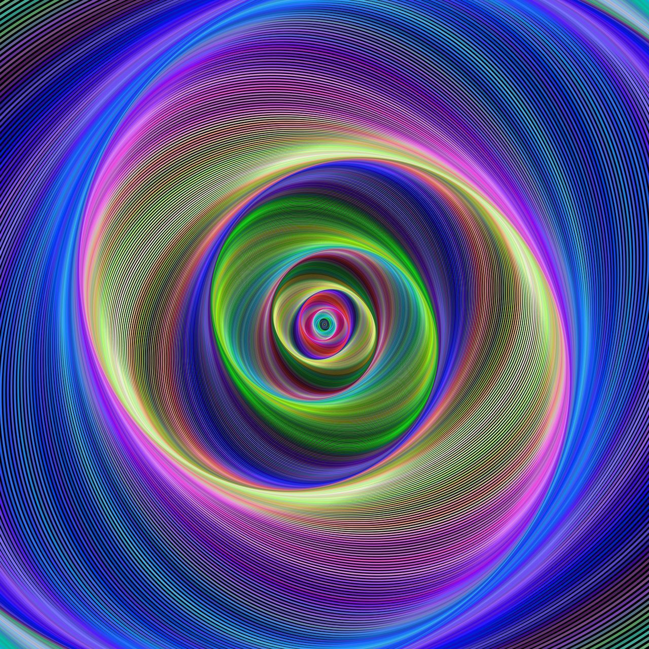 abstract, multi colored, pattern, backgrounds, rainbow, purple, swirl, full frame, no people, concentric, inspiration, illuminated, spectrum, neon, space, black background, day
