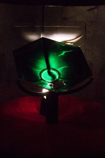 Dark Graal Green Color Illuminated Indoors  Light Effect Lighting Equipment Mistery Museum No People Sacred