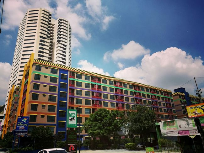 Building Condominium Coulds And Sky Colorful Colourful Rainbow Clear Sky Window EyeEm Best Shots Fine Art Photography