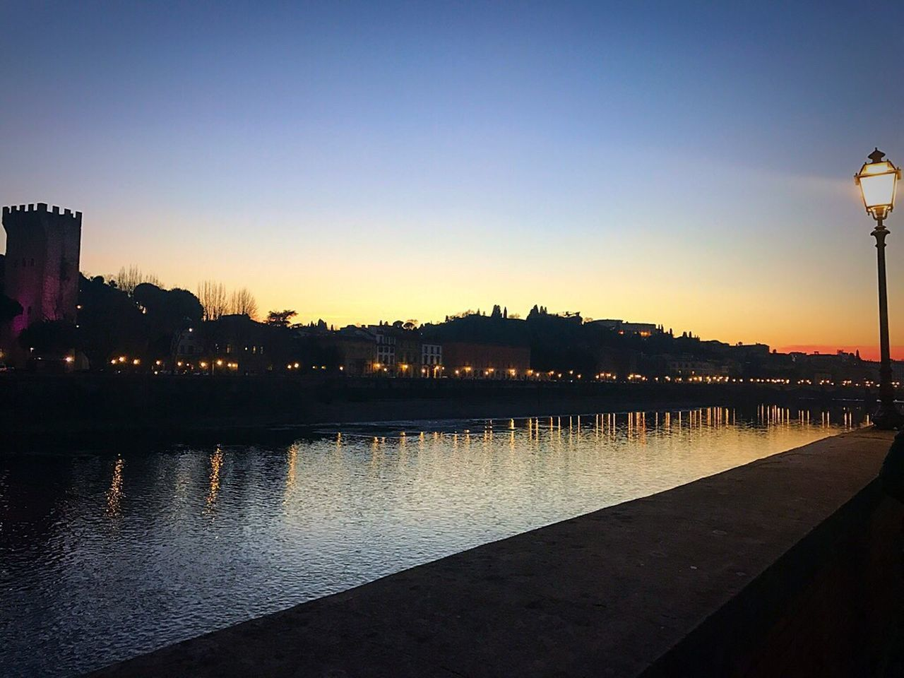 Firenze Florence Italy Italia Pontevecchio Fiumearno Tramonto Sunset Sky Cielo
