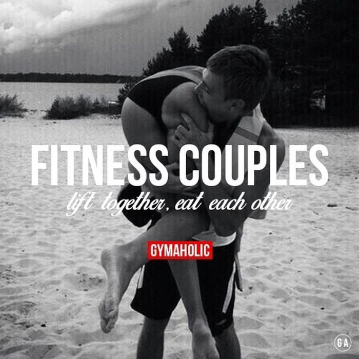 Fitness addicted Gymaholic Fitness Couple Workout Gym