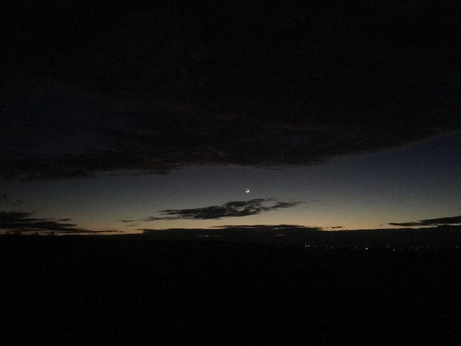 Moon rising through the clouds near Quartzsite, Arizona. Sky Beauty In Nature No People Outdoors Dark Tranquil Scene Night Moon Cloud - Sky Nature Arizona Desert
