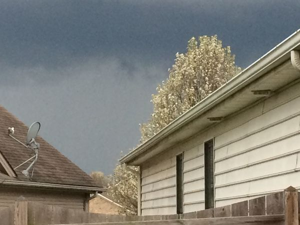 Architecture Building Exterior Low Angle View Built Structure Stormy Weather No People Outdoors tree fence