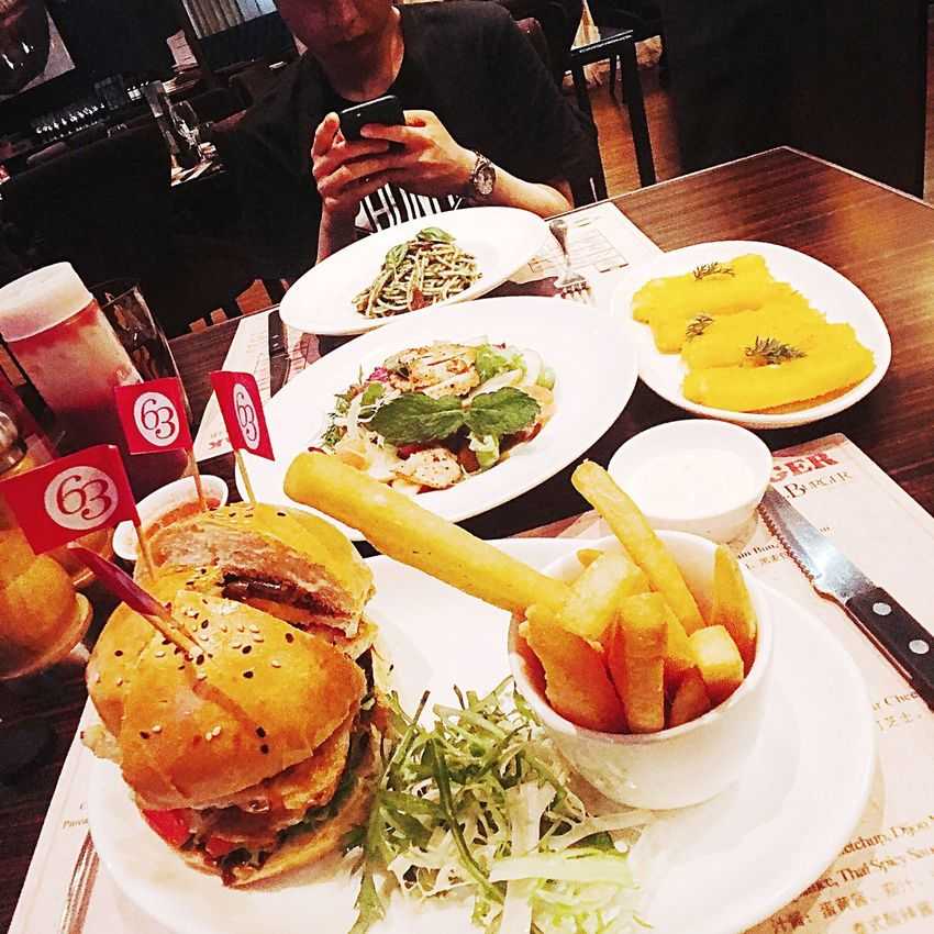 Dinner Time Heavy Meal Beef Burger