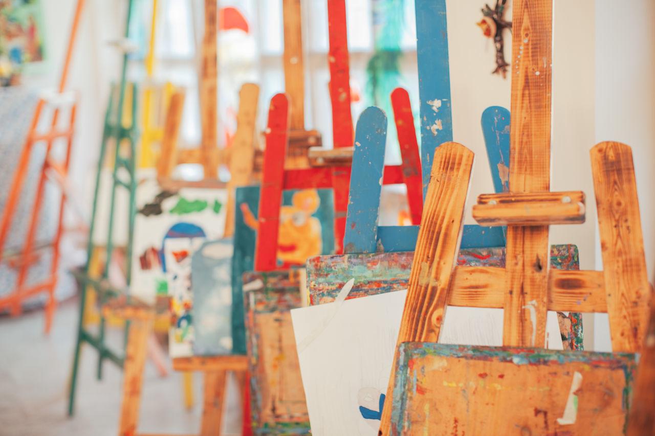 Art Art Class Art School Colorful Drawing Indoors  Paint Paintbrush Wood - Material