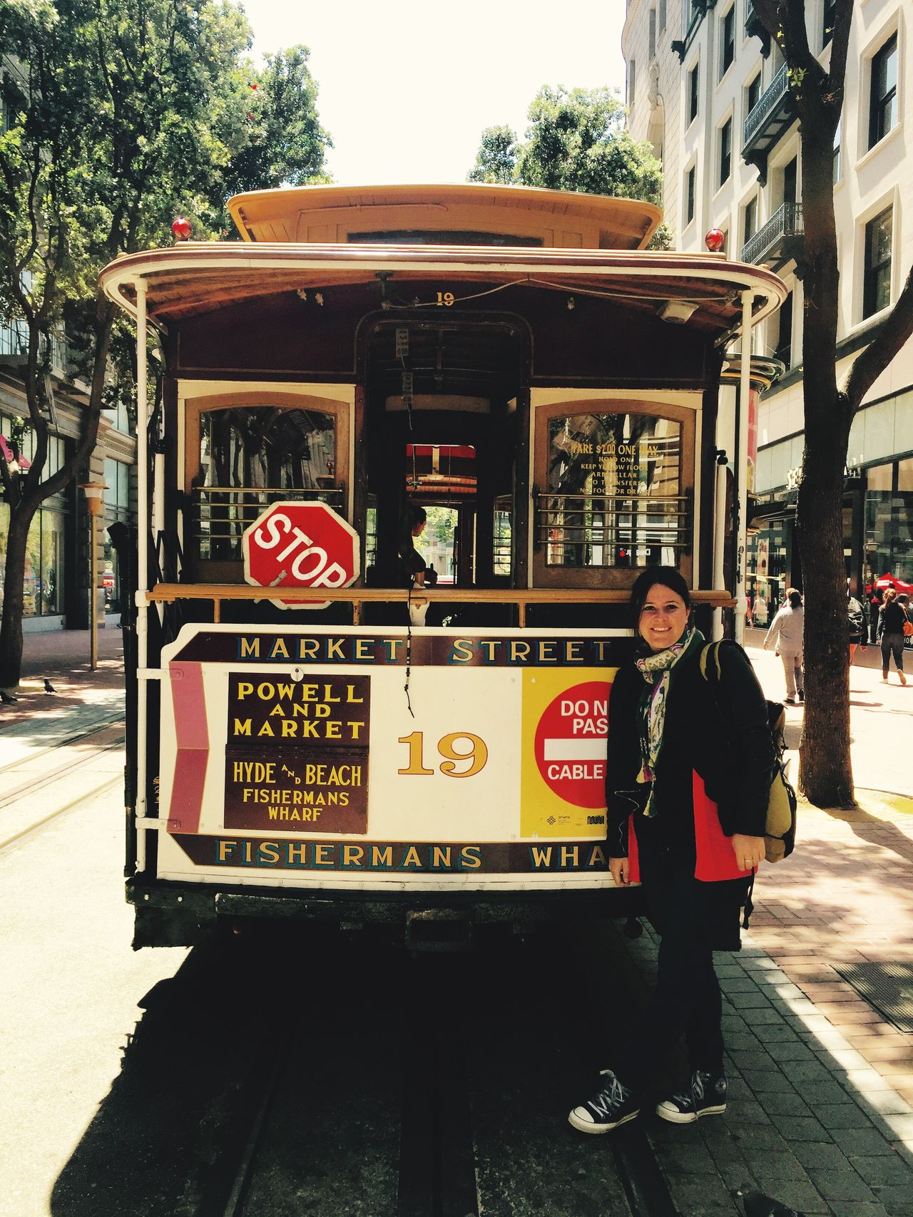 San Francisco Street Cable Car Cable Car Tracks Mid Adult Outdoors City Travel Destinations One Person Real People Adult Day Road Trip