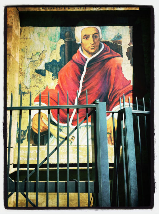 Jailed pope in Avignon by Binokle