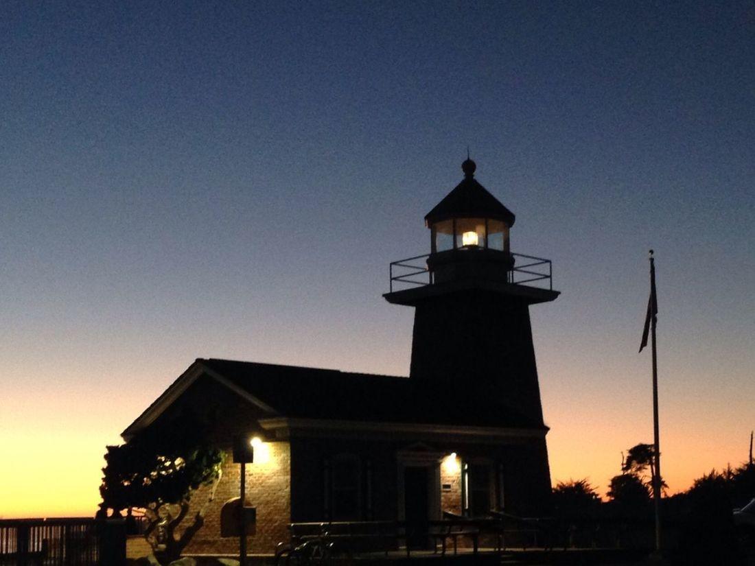 Santa Cruz Surfing Museum at sunset. ❤️ Santa Cruz, Ca Surfing Museum Lighthouse Lighthouse_lovers Sunset_collection Sunset Sky Skyporn California