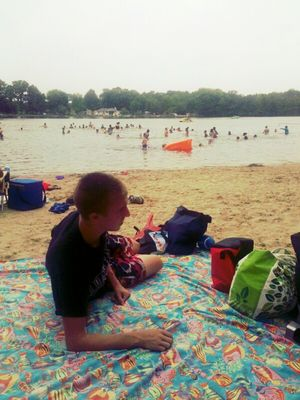Relaxing at Lake Garrison by Jennifer Ruczynski