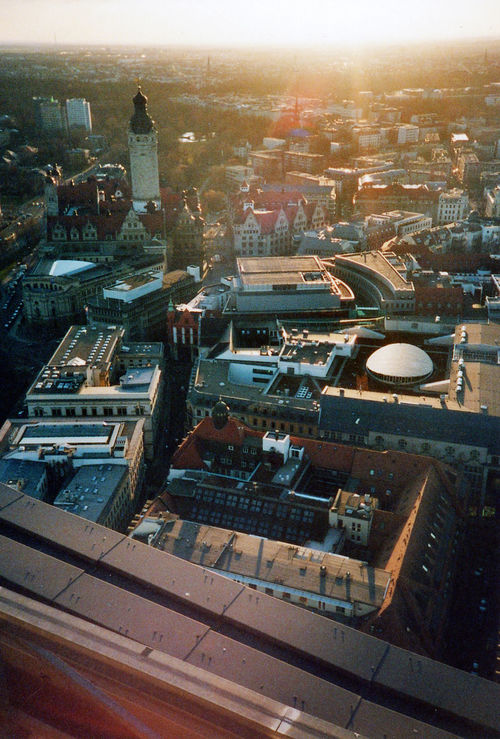 Analog Photography City Cityscape Contre-jour Leipzig Lens Flare Lomography View From Above