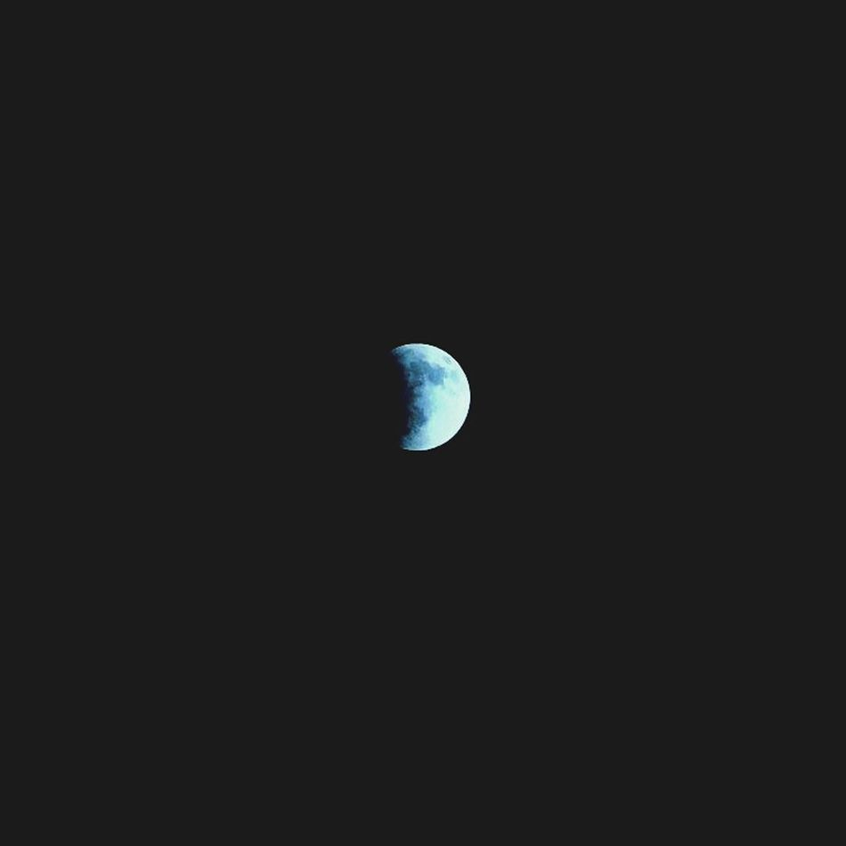 Third of the eclipse. Moon Moonlight Night Zoom