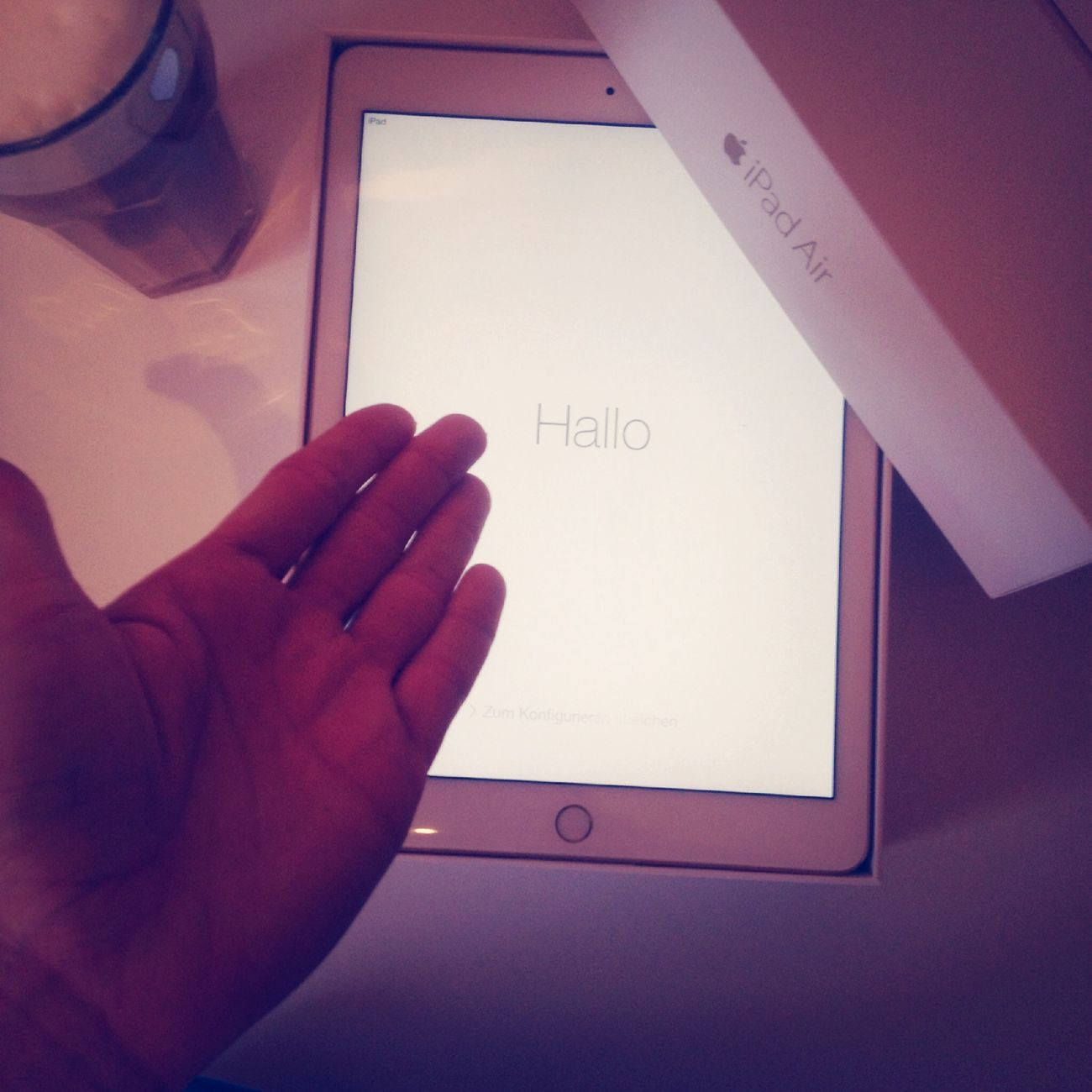 Yes hello to my new IPad Air 2 es ist so Schön Apple ?