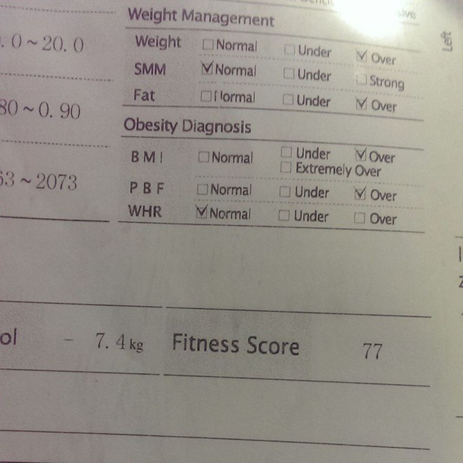 7.4 kg to go!! :( Fitness Gym Lon Beo khóc