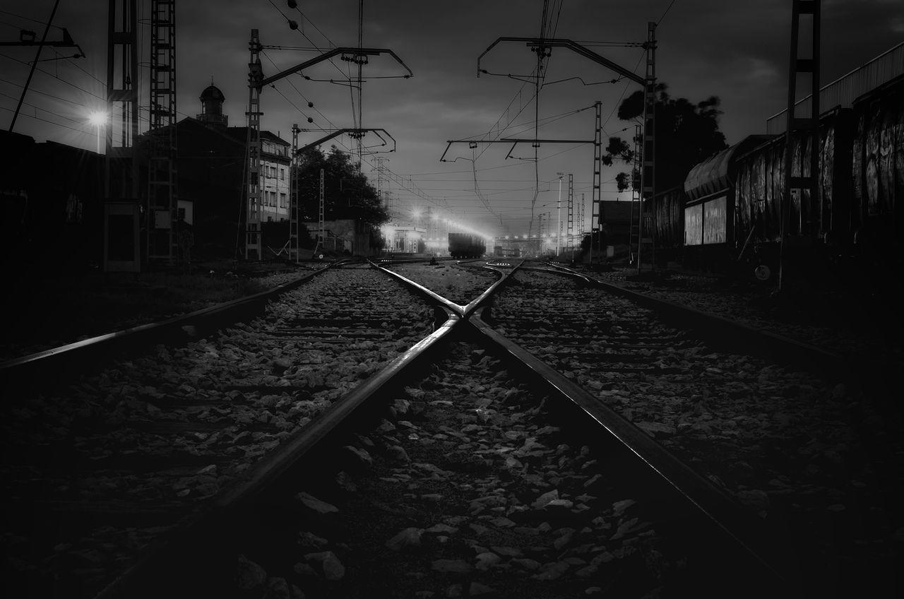 Railroad Tracks On Station
