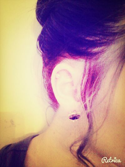 Finnaly re-pirced my ear <3