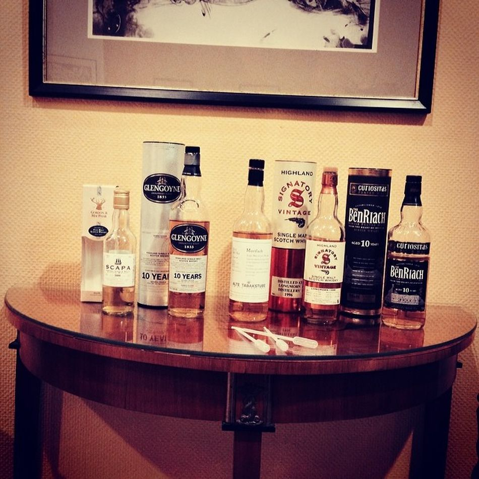 Das Lineup des whiskyBN Benriach Loewen Hotel Mortlach Tasting Whiskybn Whisky Glengoyne Lion Bonn Löwen  Godesberg Badgodesberg Singlemalt Tasteup Scapa Longmorn