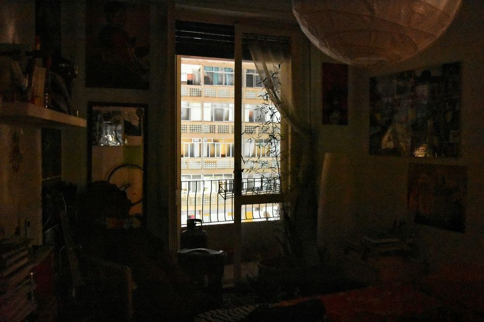 Window No People Architecture Indoors  Magritte Tribute Magritte Interior Bedroom Nightphotography Night Night Lights Neighbourhood In And Out Home Interior