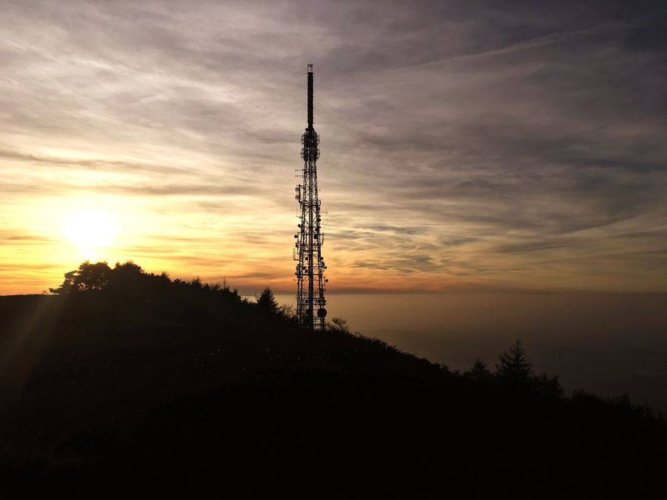 Sunset Tower Communication Sky Technology Built Structure Architecture Silhouette Telecommunications Equipment Cloud - Sky Building Exterior Connection Tree No People Antenna - Aerial Outdoors Global Communications Nature Day