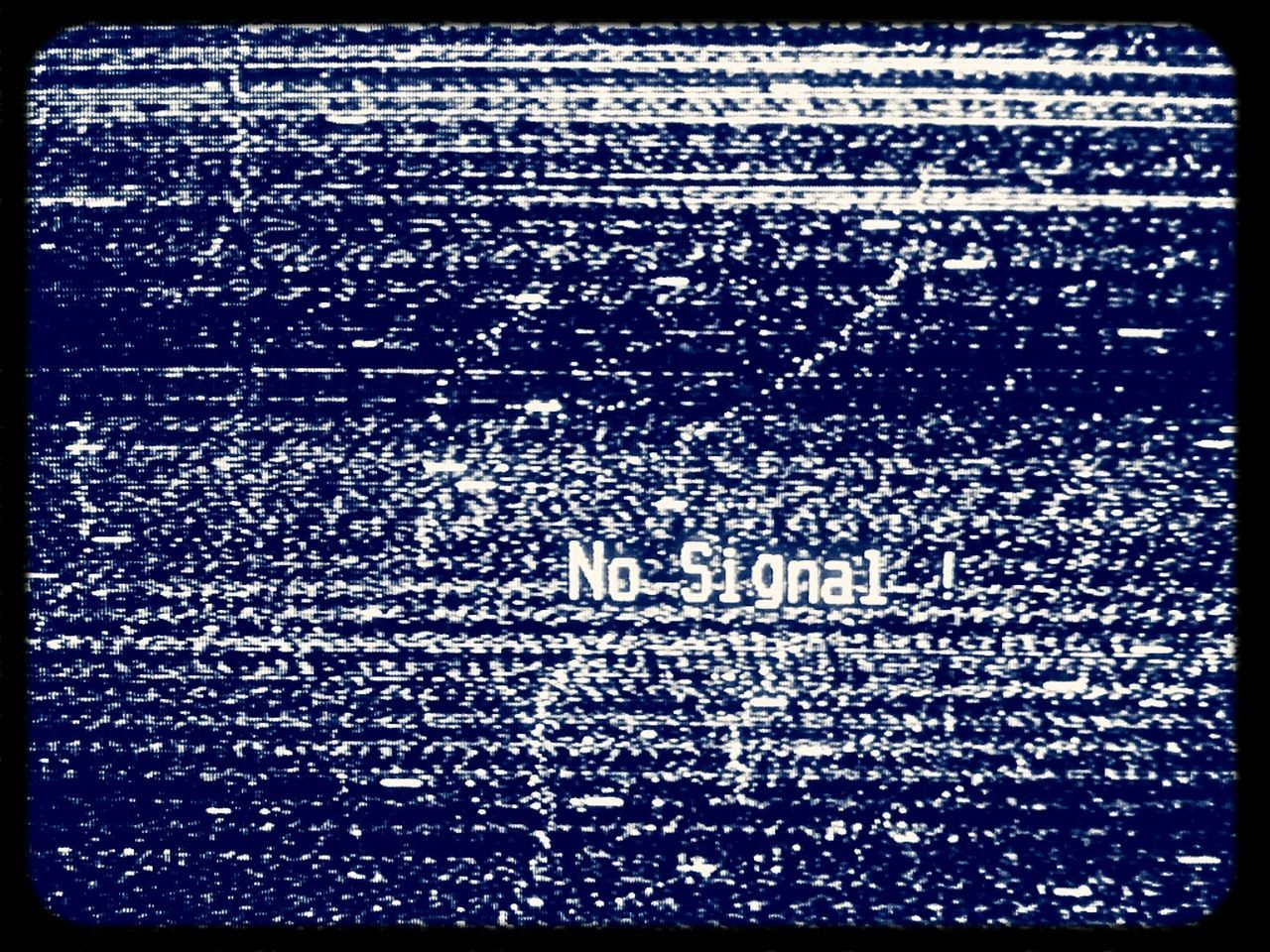 No Signal ! No Signal No Network Television White Noise