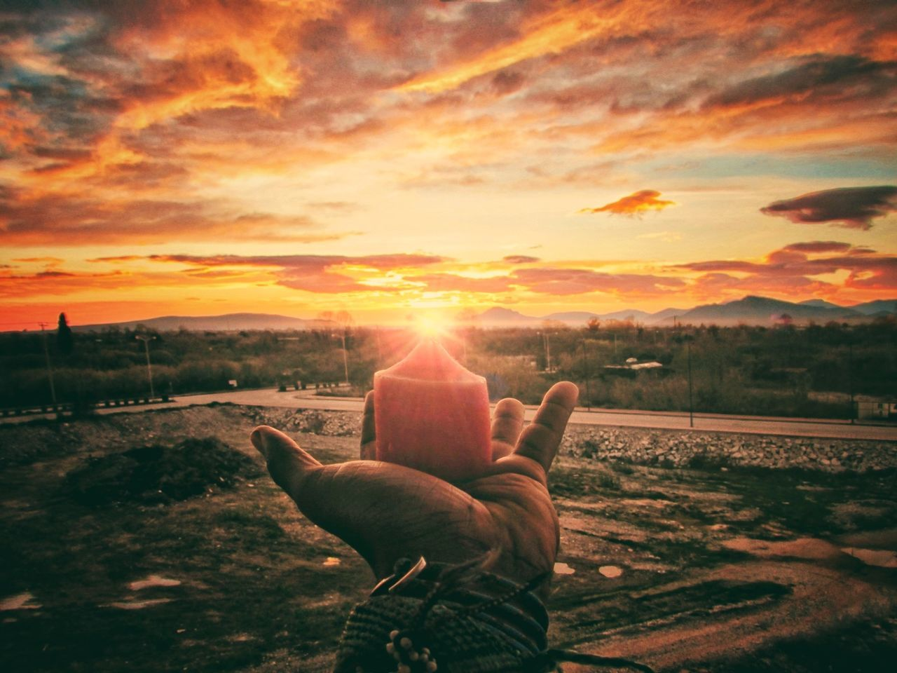 Sunset Sky Beauty In Nature Sun One Person Nature Outdoors Cloud - Sky People Day Adult Beauty In Nature Nature Standing Leisure Activity Vacations Sunlight Real People Astronomy Tranquility Vintage Photo EyeEm Diversity