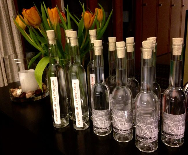 My own Grappa Vendemmia 2015 Drink Nature Glass Bottle Liquor Alcohol Ticino the special Water Reflection