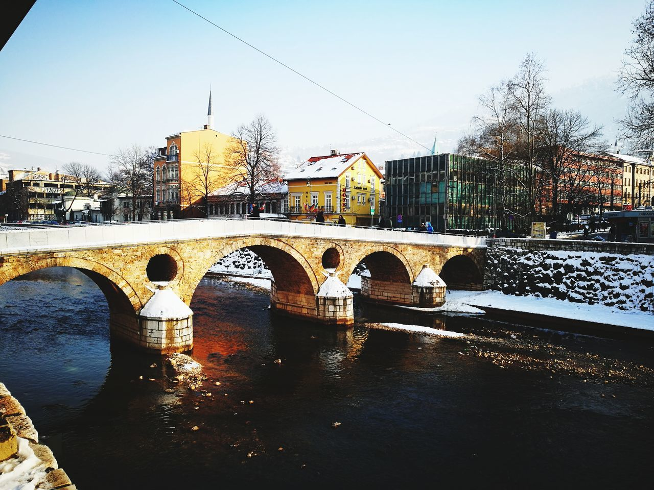 Place where the WWI started Bridge - Man Made Structure Water Architecture Worldwar1 Bridge Latinskacuprija Principov Most Ww1 Prvisvjetskirat Reflection Travel Destinations Built Structure Tourism Politics And Government River City Cityscape EyEmNewHere EyeEmNewHere