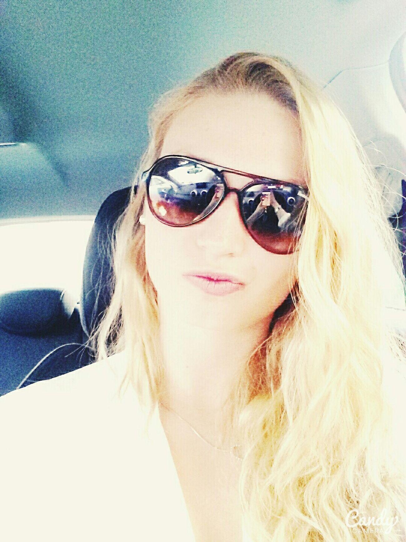 Hanging Out Blondie Driving Hello World Enjoying Life Sunglass  Armani ❤