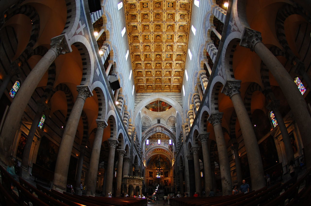 Architectural Column Architecture Built Structure Ceiling Indoors  Italy Low Angle View Pisa Religion Spirituality